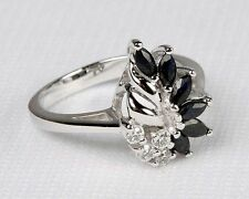 New Avon .925 Sterling Silver & GENUINE SAPPHIRE RING - Sizes Avail 5 6 7 8 9 10