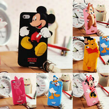 Custodia Cover 3D DISNEY Minnie Mickey Mouse Silicone iPhone 4 4s 5 5s s 6 plus