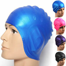 Universal Sports Waterproof Silicone Elasticity Swimming Cap Bathing Hat Stylish