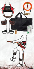 Tree Climber Basic Spur-Spike Kit w/High Back Saddle,FliplineKit,Gear Bag,Book