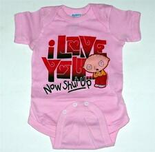 FAMILY GUY Stewie FOX Animated TV Sitcom PINK CLOTHING BODYSUIT 6 12 24 Mos New