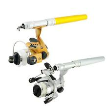 New Mini Portable Pocket Fish Pen Shape Aluminum Alloy Fishing Rod Pole Reel