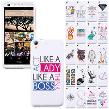 For HTC Desire 626 626S Various Design SNAP ON Hard Skin Protector Case Cover