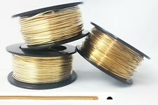 1 LB, Jeweler's Brass Wire, Half Round, Gauge: 12 14 16 18 20 21 22, Dead Soft