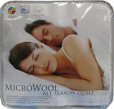 SINGLE or QUEEN Washable 350gsm MICROWOOL Quilt Doona Duvet SPRING AUTUMN