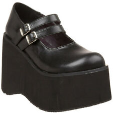 "DEMONIA KERA-08 4 1/2"" Platform Goth Punk Lolita Double Strap Mary Jane Rocker"