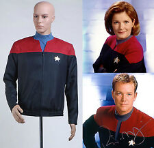 Star Trek Voyager Command Captain Cosplay Red Uniform Jacket Shirt Costume Suit