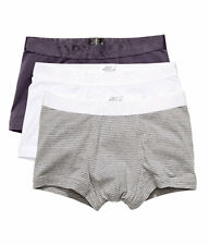 NEW David Beckham H&M 3 Pack Trunks, 1 PLUM, 1 White, 1 Striped Grey S,M,L,XL