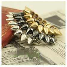 Cool Style Bracelet Punk Rock Gothic Rock Rivet Stud Spike Rivet Stretch Bangle