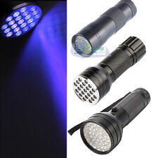 Portable 9 12 21 51 LED Ultra Violet UV Blacklight Flashlight Torch Light Lamp