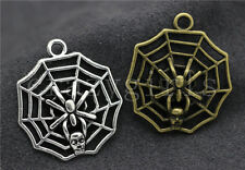 5/20/100pcs Tibet Silver/Bronze Cobweb Jewelry Finding Charms pendant 30x27mm