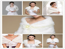 The classic multi-style bridal Faux Fur Shrug Bolero bride warm winter jacket