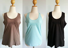 *NWT Patagonia Women ASTRID Tank Organic Cotton Top Stretchy Pleated S M XL