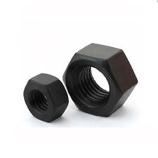 50/100 PCS M2/M2.5/M3/M4/M5/M6/M8 Nylon Hex Nuts Plastic Hexagonal Nut Black