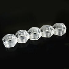 50/100 PCS M3/M4/M5/M6 Nylon Hex Nuts Plastic Hexagonal Nut Clear