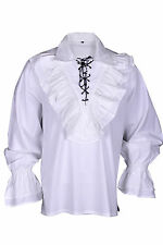 Renaissance Pirate Casual Captain JACK Shirt Medieval Caribbean Costume Men