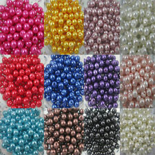 Wholesale Glass Pearls Round Spacer Loose Beads 4-10mm bead Jewelry Findings