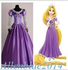 New Adult Rapunzel Outfit Fancy Dress Cosplay Costume Princess Fairytale Tangled