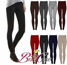NEW WOMENS LADIES PLAIN WARM THICK CHUNKY CABLE KNITTED LEGGINGS TROUSERS 8-14