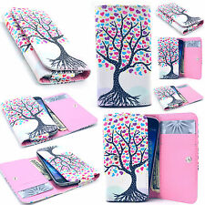 Love Tree Leather Card Wallet Case Cover For Phone Samsung LG HTC Motorola