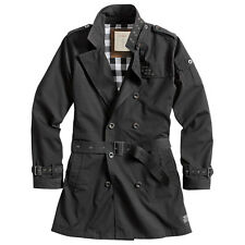 Surplus Classic Army Trenchcoat Military Style Mens Jacket Water Repellent Black