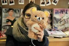 Kawaii Plush Brown Bear Case For iPhone6/6Plus/5s/5c Rilakkuma Case Fashion Case