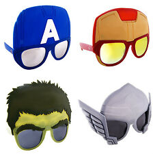 MARVEL AVENGERS SUPERHERO COSTUME GLASSES MASK SUN-STACHES IRON MAN HULK THOR
