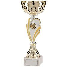 Personalised Silver & Gold Cup Trophy Award Any Sport, Engraved With Any Text