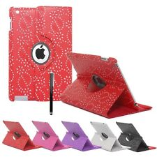 Leather 360° Rotating Bling Smart Stand Case Cover For iPad Mini & iPad Mini II