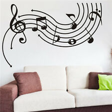 Music And Note Vinyl Art Removable Wall Sticker Home Decor Mural DIY Decals