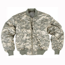 Ma1 Military Tactical Flight Bomber Pilot Army Jacket UCP ACU Digital Camo S-3XL