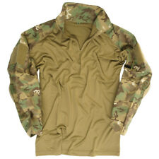 Army Tactical Combat Warrior Mens Shirt + Elbow Pads Airsoft Arid Woodland Camo