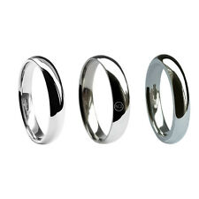 5mm 18ct White Gold Court Comfort Wedding Rings UK HM Med Heavy X Heavy Bands