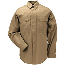 5.11 Taclite Pro Security Mens Tactical Shirt Long Sleeve Ripstop Coyote Brown