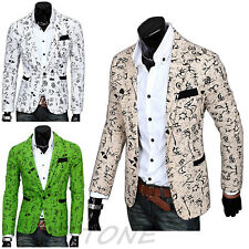 Fashion Mens One Button Casual Suit Slim Fit Blazer Coat Jacket Outwear Top Cool