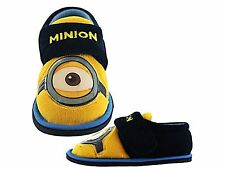Boys Girls Kids Unisex Despicable Me Minions Eye Comfy Slippers