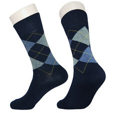 "5 Pairs Lot Mens Argyle Dress Socks M2215 ""Skin contact surface is 100% cotton"""