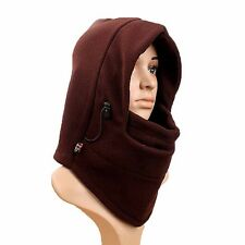 4in1 Fleece Thermal Balaclava Winter Outdoor Warmer Face Hood Hat Mask Scarf U
