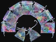 """100 50 3""""x4"""" White Coralline Organza Jewelry Pouch Wedding Party Favor Gift Bag"""