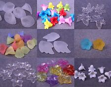 White/Clear/Mixed Colour Frosted Acrylic/Lucite Flower Leaf Beads (BOX22+22a)
