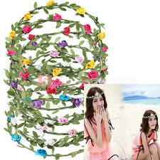 Boho Lady Floral Flower Festival Party Bridal Wedding Garland Hairband HeadBand