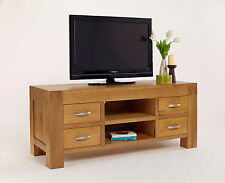 FULLY ASSEMBLED Living Room Thor Living Solid Oak Large TV Unit TV's Up to 60