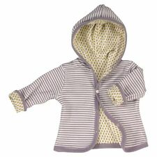 Newborn Baby Girl Ditsy Print Reversible Hoody Top - Lavender 100% Cotton