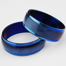 Nice New Arrival Blue Cat-eye Enamel Top Stainless steel Fashion Women Mens Ring