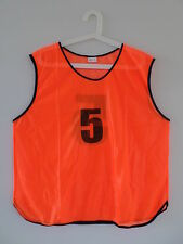 NUMBERED sports TRAINING BIBS soccer football grading SET x 10-15 in carry bag