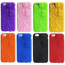 3D Soft Silicone Rubber TPU Back Case Cover Skin Shell For iPhone 6 4.7'/6s/5 5s