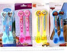 "2pcs Bento Lunch Kids Child School Travel Plastic Cutlery Set 6.25"" Spoon & Fork"