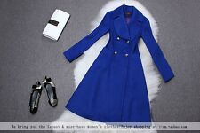 Double breasted full lined wool skirted Blazer coat plus 1x-10x (16-52)G235