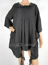 NEW Italian Quirky LINEN Lagenlook ARTIST TUNIC Top