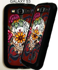 For Samsung Galaxy s3 s4 s5 ROSE FLORAL Sugar Skull Phone Case Cover Dead Day D4